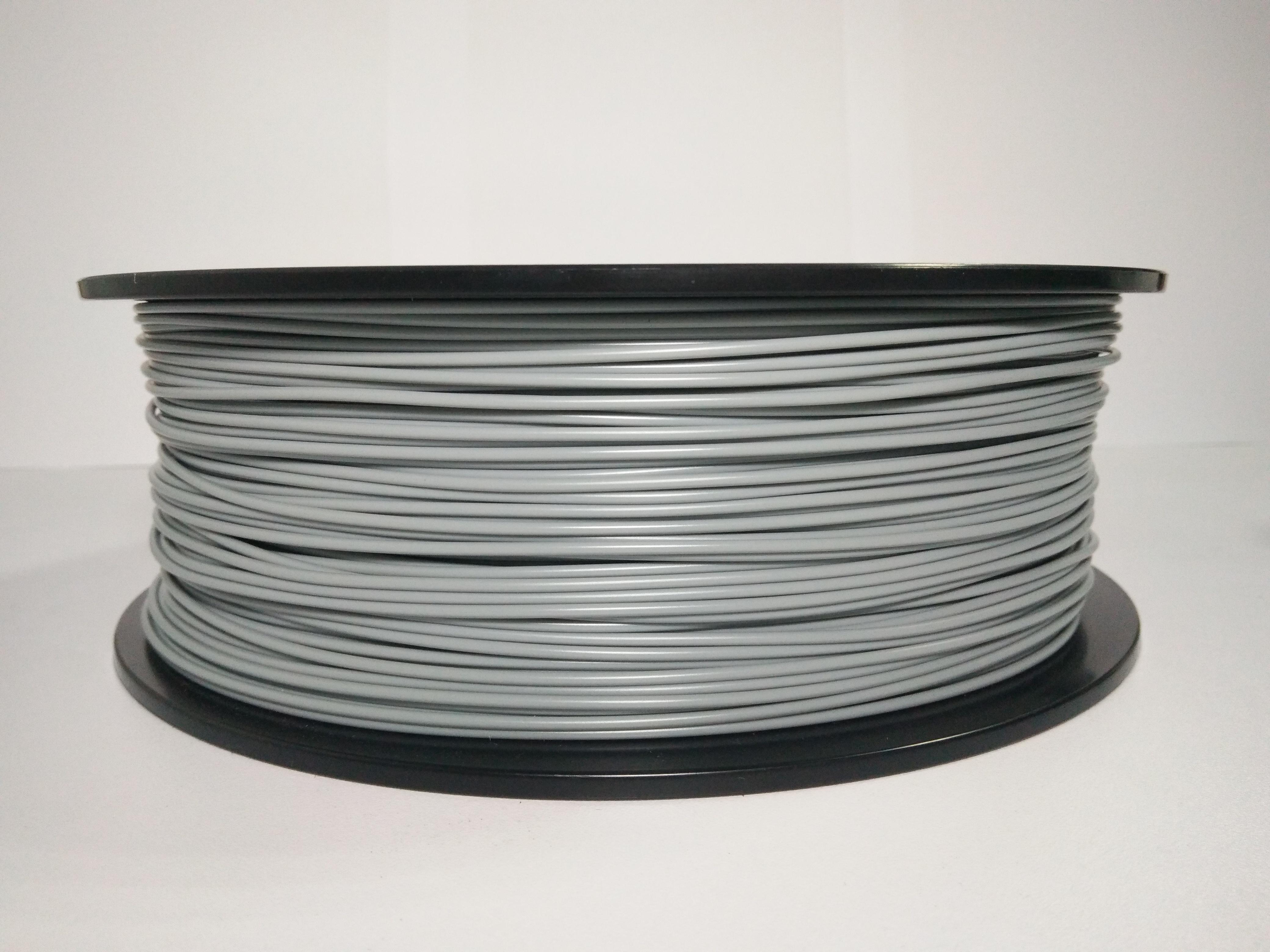 Пластик PLA для 3D принтера серый