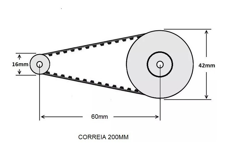 Ременной редуктор GT2 20-60 (1)