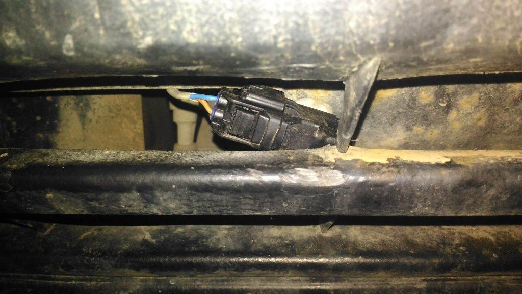 Размещение термодатчика за бампером