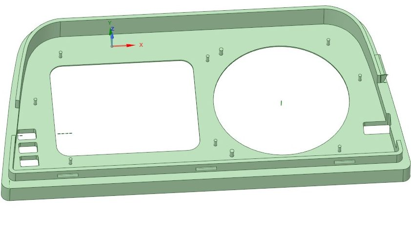 3Д модель рамки кренометра эскудо